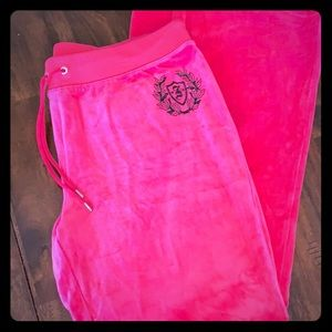 Juicy Couture pink velour sweatpants